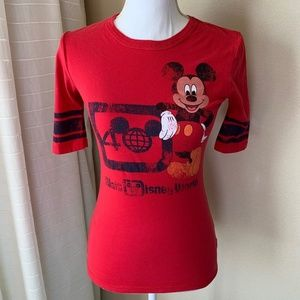 Vintage Disney Mickey Mouse 40th Red Shirt